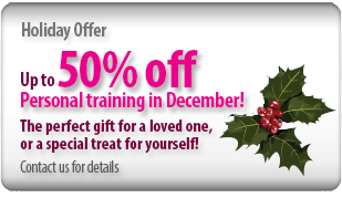 Up to 50% off Personal Training in December